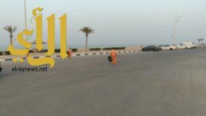 بلدية محافظة الخفجي وهيئة الترفيه ينهيان تجهيزات العروض الفلكلورية بالكورنيش