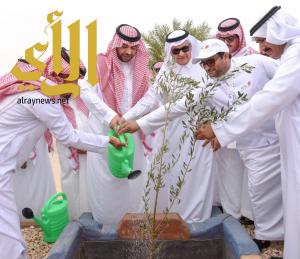 الأمير فيصل بن خالد يدشن حملة غرس 200 ألف شجرة بمنطقة الحدود الشمالية