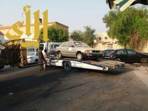 بلدية الظهران ترفع 90 مركبة تالفة ومتهالكة