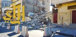 بلدية وسط الدمام تزيل 4 منازل آيله للسقوط في حي البادية