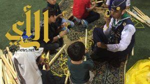 مهارة استخدام الحبال تجذب الصغار والكبار للركن الكشفي بالجنادرية