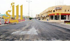 بلدية النعيرية تبدأ في صيانة شوارع المحافظة