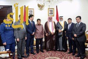 نائب رئيس الجمهورية الإندونيسية يستقبل مدير جامعة الإمام والسفير السعودي