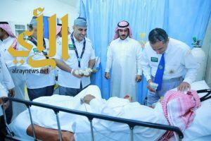 رواد كشافة المجمعة يزورون المرضى في مستشفى تمير العام