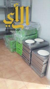 بلدية غرب الدمام تصادر 3 طن مواد غذائية من منزل تديره عمالة مخالفة
