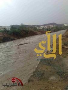 أمطار غزيرة وسيول على تندحة
