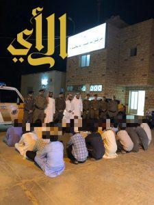 شرطة الجوف تنفذ حملتين لحملة وطن بلا مخالف وحملة التوطين