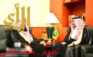 سمو محافظ المجمعة يستقبل رئيس محكمة المجمعة الجديد