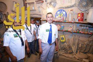رواد كشافة المجمعة يزورون منزل السليمان التراثي بعشيرة سدير