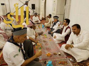 رواد كشافة محافظة المجمعة يقيمون سفرة افطار جماعية