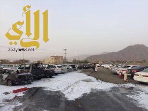 سقوط مقذوف عسكري أطلقته عناصر حوثية من داخل الاراضي اليمنية على حي سكني بنجران