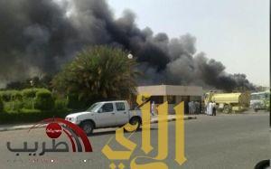 السيطرة على حريق هائل اندلع في مستودع مستشفى الملك عبدالله ببيشه