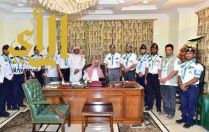 مفتي عام المملكة يستقبل الكشافة ويشيد بدورهم في عملية تفويج الحجاج