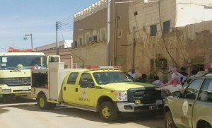 مدني نجران يخمد حريقاً نشب في منزل طيني