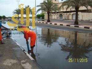 القطيف (9) جهات حكومية تنجح في مواجهة الأمطار