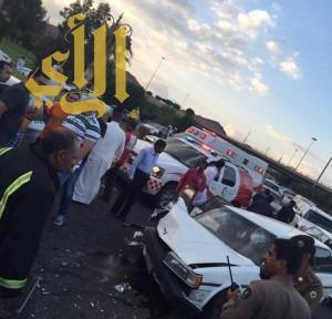 مصرع طفلين وإصابة 11 إثر حوادث مرورية متفرقة بالطائف