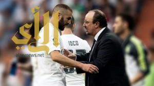 مدرب ريال مدريد يدعم بنزيمة ويستبعده من مباراة اشبيلية