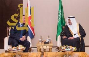 """خادم الحرمين يلتقي رئيس الوزراء البريطاني على هامش """"قمة العشرين"""""""