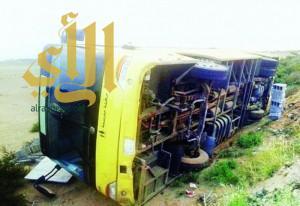 إصابة 6 طالبات إثر انقلاب حافلتهن في جازان