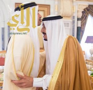 خادم الحرمين يستقبل وزير خارجية الإمارات