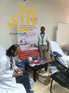 كشافة وادي الدواسر تشارك في حملة التبرع بالدم
