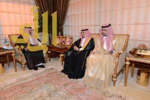 أمير عسير يستقبل الأمير عبدالله بن سلطان بن فرحان أل سعود