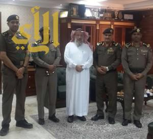 مدير الدفاع المدني بالمدينة المنورة المكلف يستقبل الخليل