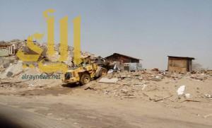 إزالة سوق الأخشاب العشوائي بعكيشية مكة