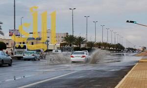 أمانة تبوك: الأمطار الغزيرة أكدت نجاح مشاريع درء مخاطر السيول في المنطقة