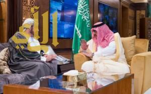 سمو ولي العهد يبحث مع وزير الداخلية العُماني أوجه العلاقات الثنائية بين البلدين