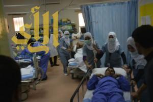 اخلاء مستشفى ظهران الجنوب من المرضى والعاملين