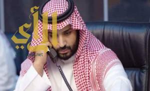 ولي ولي العهد يتلقى اتصالاً من ملك الأردن