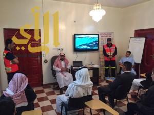 إدارة تدريب الهلال الأحمر بالباحة تنفذ محاضرة لطلاب المدارس عن مواجهة الحوادث والغرق