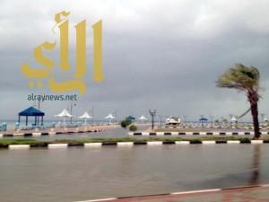 أمطار الخير  و البركة على محافظات ومراكز منطقة تبوك