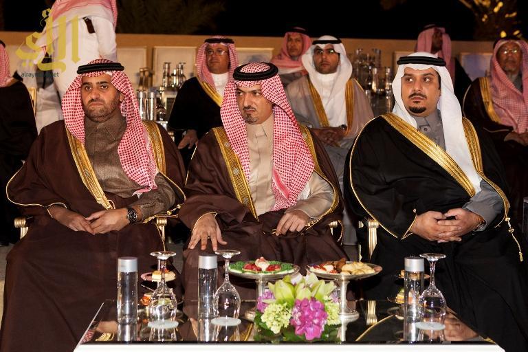 جانب من حضور اصحاب السمو الامراء يتقدمهم رئيس نادي الهلال