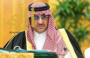 ولي العهد يستقبل الأمراء وكبار مسؤولي الداخلية وقادة القطاعات الأمنية