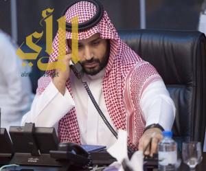 ولي ولي العهد يتلقى اتصالاً هاتفيًّا من جلالة ملك أسبانيا