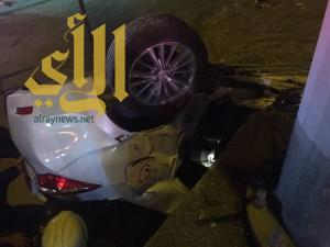 إصابة شخصين نتيجة حادث سير على طريق أبو حدرية