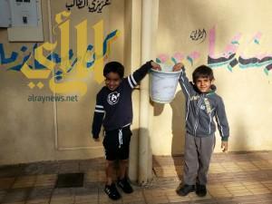 معلمو مدرسة بخميس مشيط يقودون مبادرة لحفظ النعمة