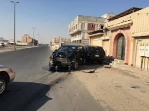 إصابة رجل وإمرأة نتيجة حادث سير خلف مستشفى الأمل بالدمام