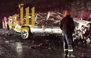 النماص : وفاة وإصابتين إثر حادث مروري لسيارة عائلية