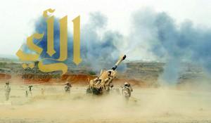 قوات التحالف تقتل 15 معتدياً وتدمر عربة في قطاع الخوبة بجازان