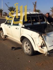 توقف القلب والتنفس لمصاب بحادث مروري في منطقة تبوك