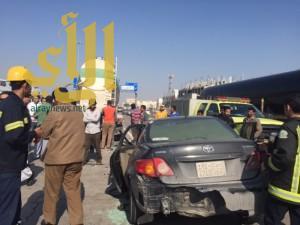 إصابة شخص بحادث مروري على طريق أبو حدرية