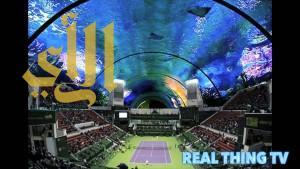 بالفيديو .. أول ملعب تنس تحت الماء في دبي