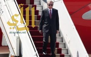 الرئيس التركي رجب طيب أردوغان يصل إلى الرياض