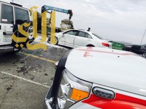 الباحة تشهد حوادث مرورية متفرقة وإصابات عديدة