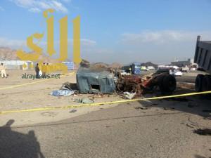 مصرع شخصين بحادث شاحنات في المدينة المنورة
