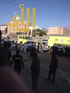 """مدني الباحة يسيطر على حريق محدود في عمارة مكونة من """"٣"""" أدوار"""