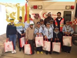 طلاب مدرسة الفاروق يقومون بزيارة لمركز إسعاف الباحة ٢ ببني سار